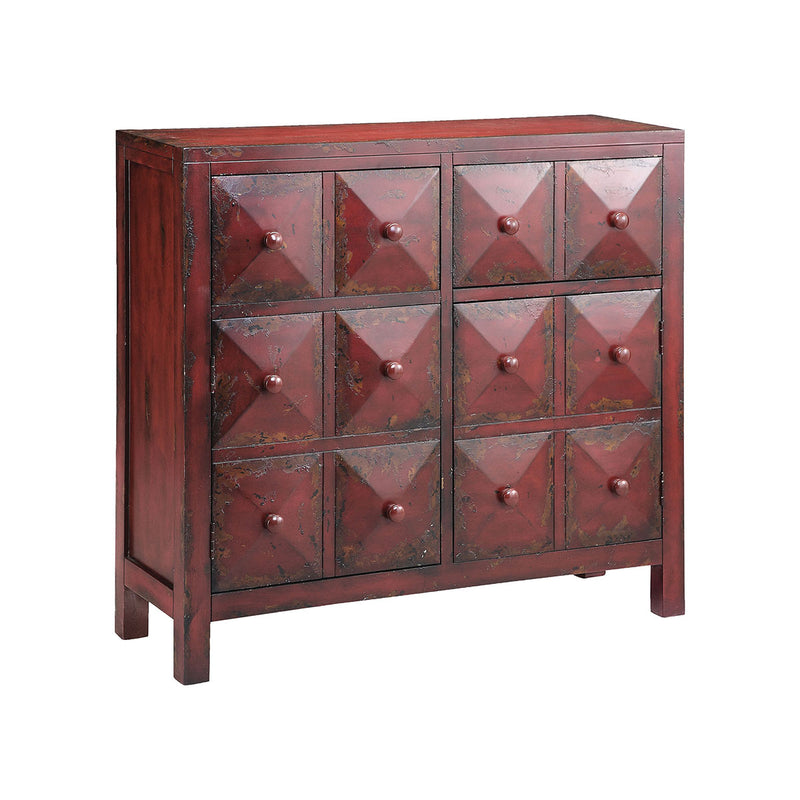 Maris Accent Cabinet in Hand-Painted,Red