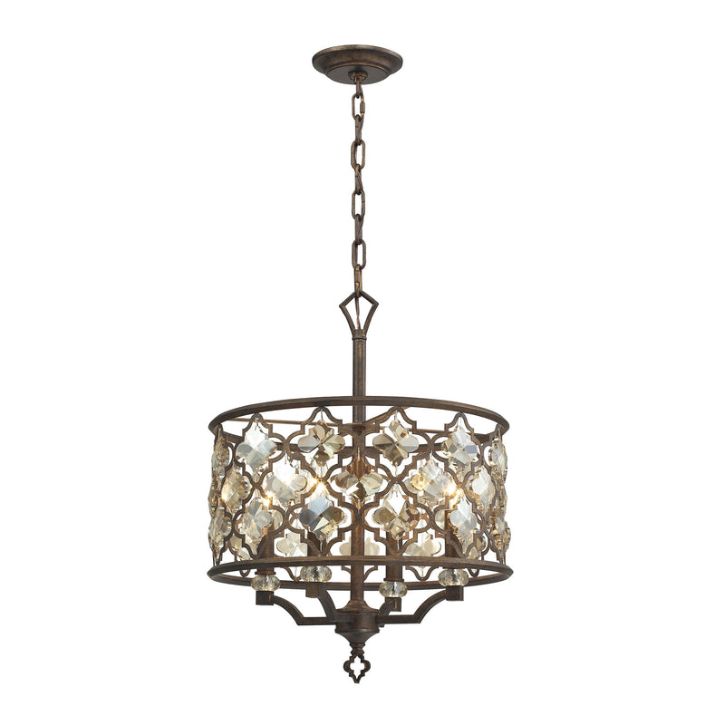 Armand 4 Light Pendant In Weathered Bronze - Weathered Bronze