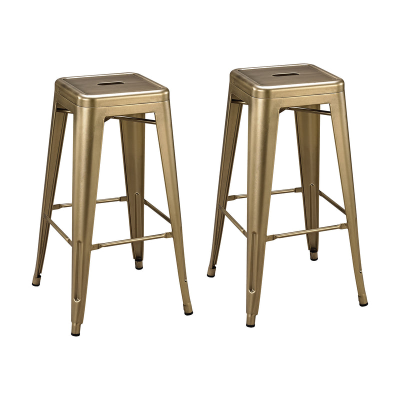 Acento Stool - Antique Gold