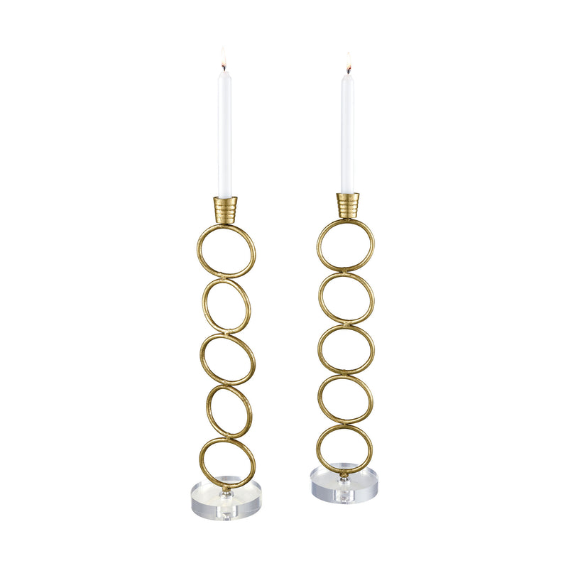 Avignon Candle Holders - Gold