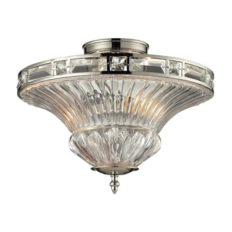Aubree 2 Light Semi Flush In Polished Nickel - Polished Nickel
