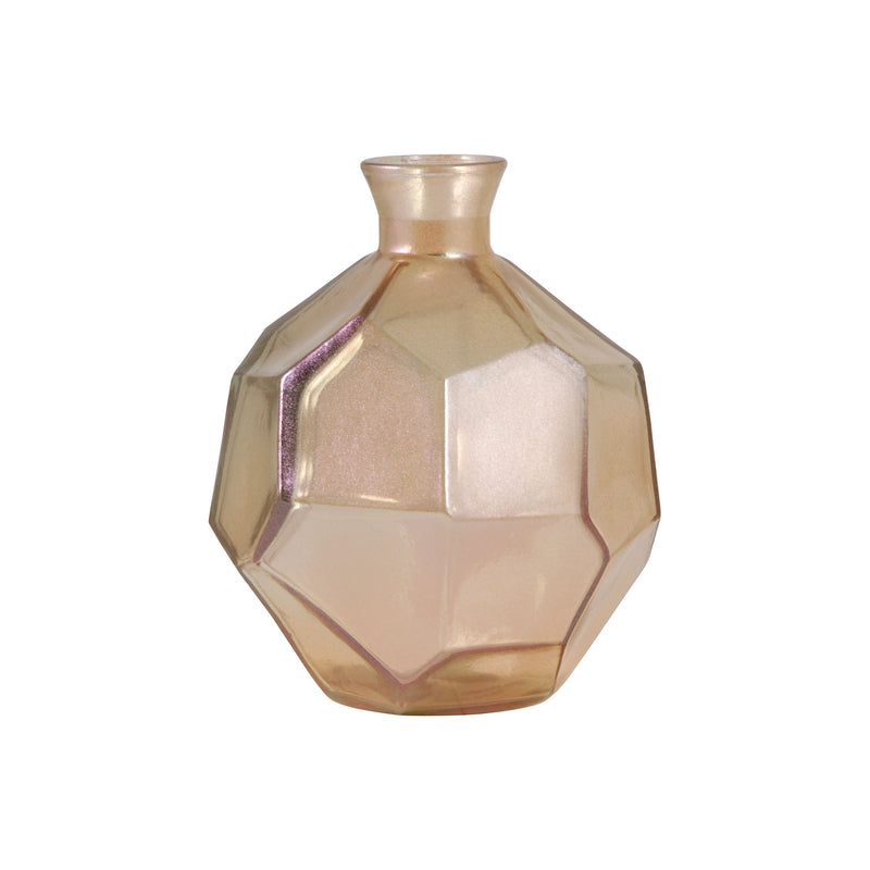 Origami Round Bottle - Gold Lustre