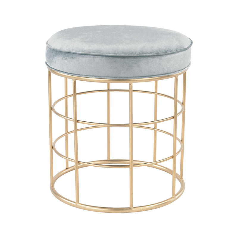 Beverly Glen Accent Stool - Duck Egg Blue