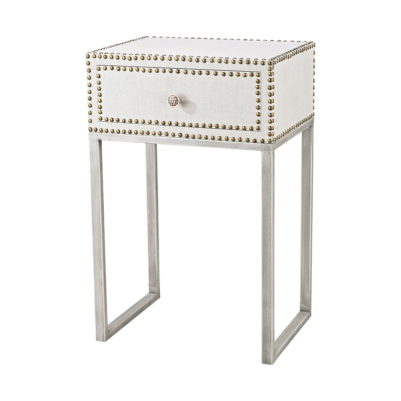 Albiera 1 Drawer Accent Table - Driftwood Grey