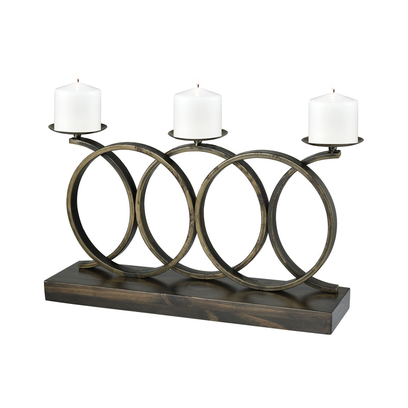 Spirolette Candle Holder - ARABICA AND DARK RUST