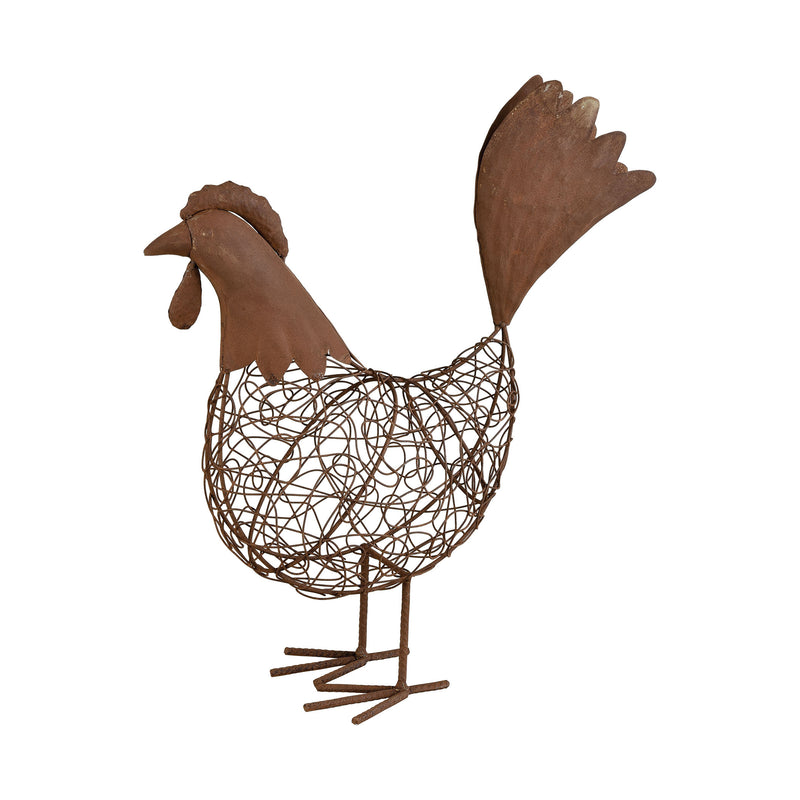 A Cock Of Doodles Decorative Accessory - RUST