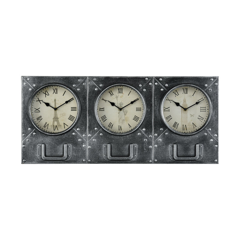 Age Of Progress Wall Clock - DARK PEWTER