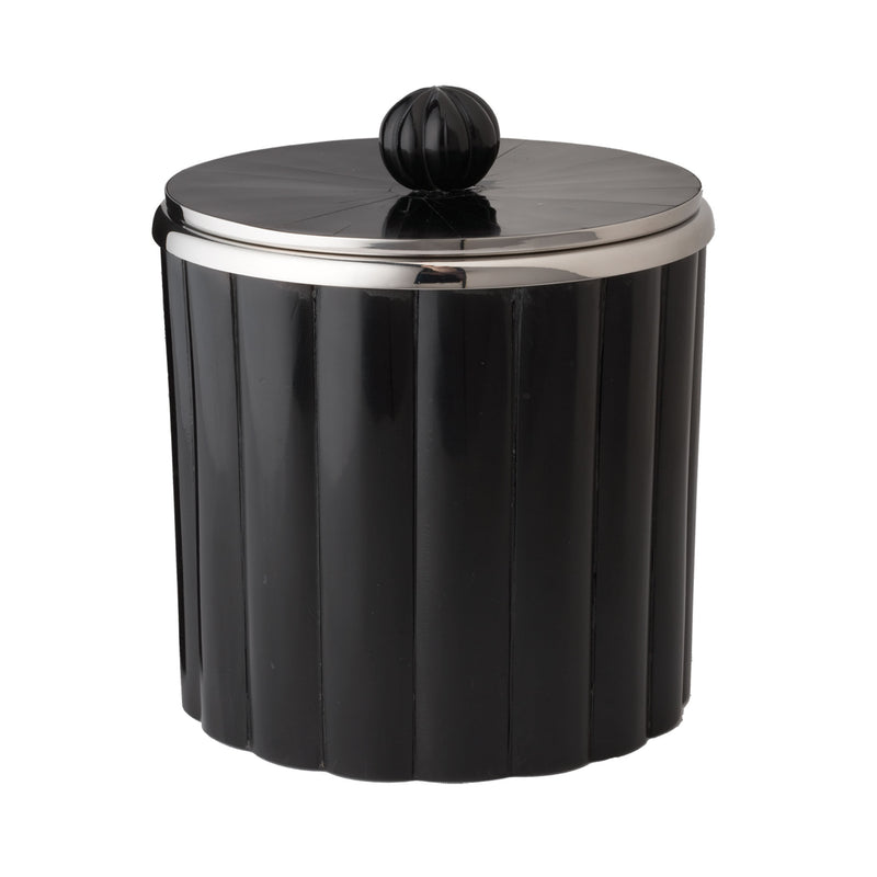 Horn Rod Pattern Ice Bucket - Black