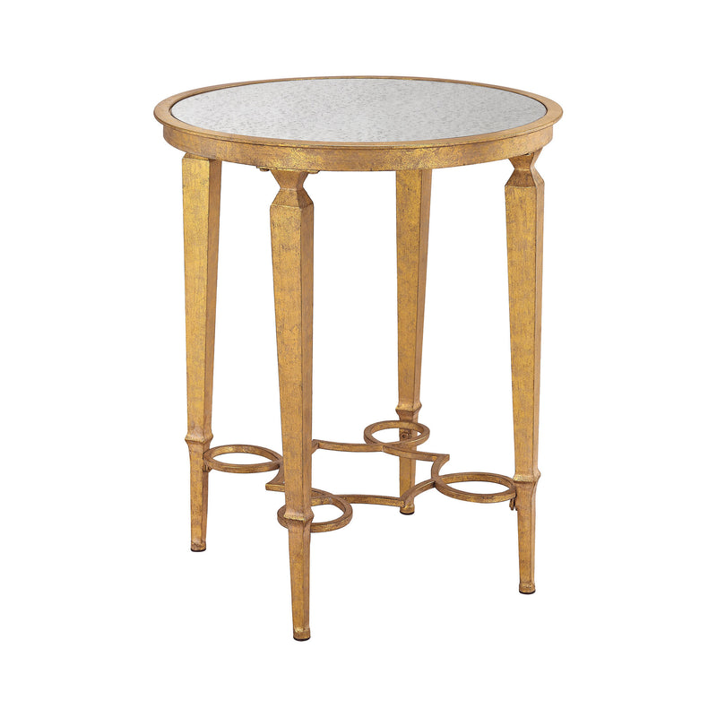 Alcazar Accent Table - Antique Gold