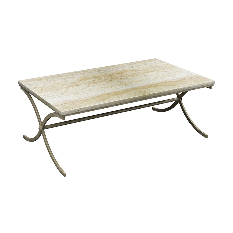 Sanibel Cocktail Table in Antique Bronze,Chalk