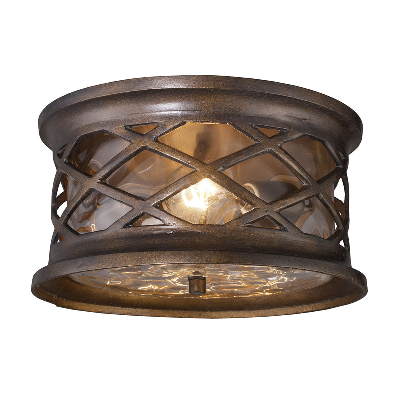 Barrington Gate 2 Light Outdoor Flush Mount In Hazelnut Bronze - Hazelnut Bronze