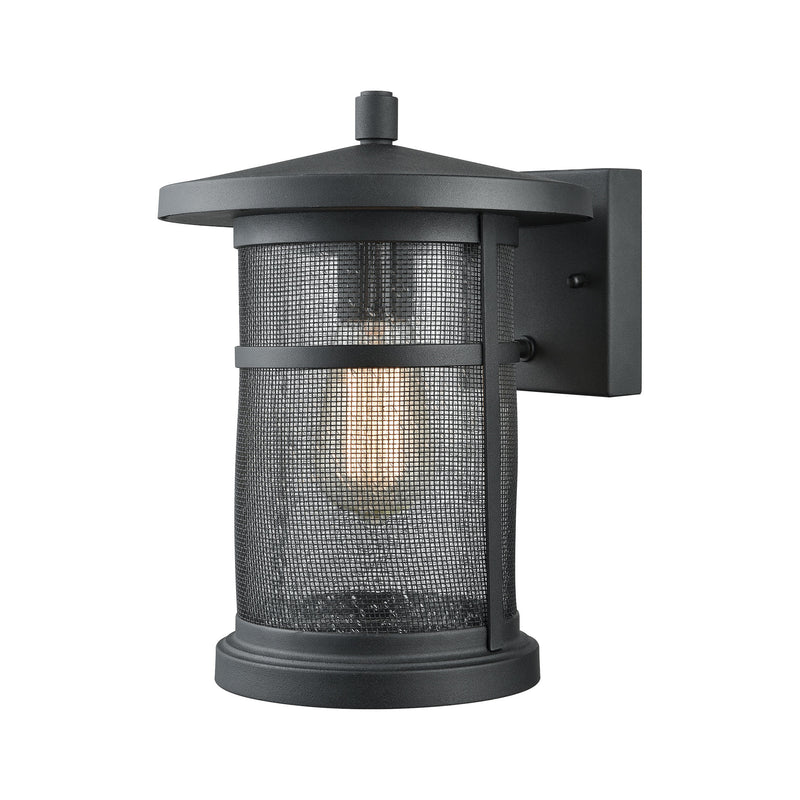 Aspen Lodge 1 Light Outdoor Wall Sconce In Textured Matte Black - Textured Matte Black