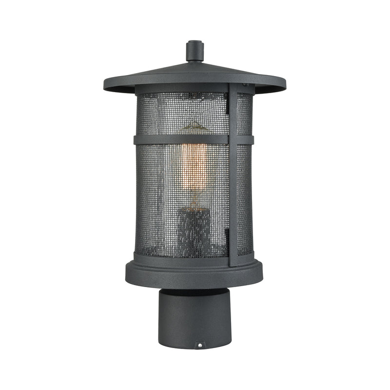 Aspen Lodge 1 Light Outdoor Post Mount In Textured Matte Black - Textured Matte Black