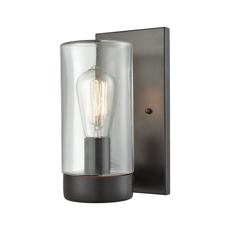 Ambler 1 Light Outdoor Wall Sconce In Oil Rubbed Bronze With Clear Glass - Oil Rubbed Bronze
