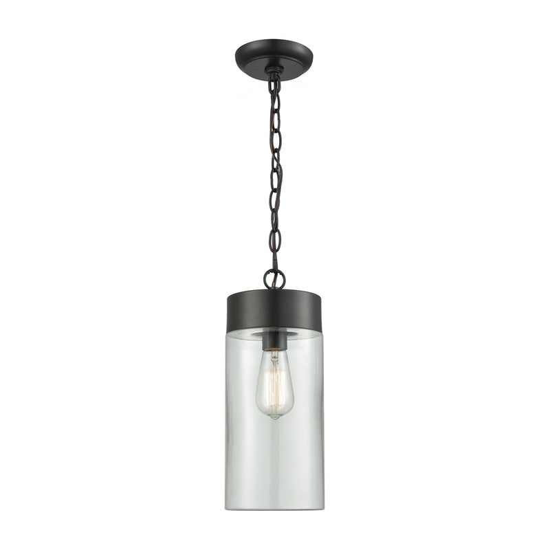 Ambler 1 Light Outdoor Pendant In Oil Rubbed Bronze With Clear Glass - Oil Rubbed Bronze
