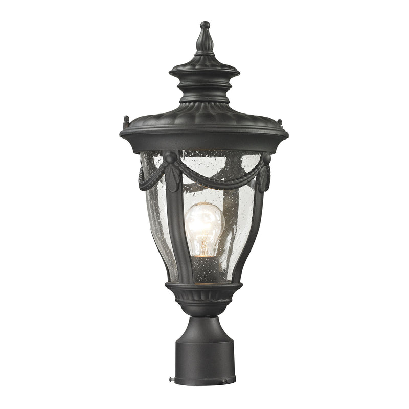 Anise 1 Light Outdoor Post Light In Textured Matte Black - Textured Matte Black