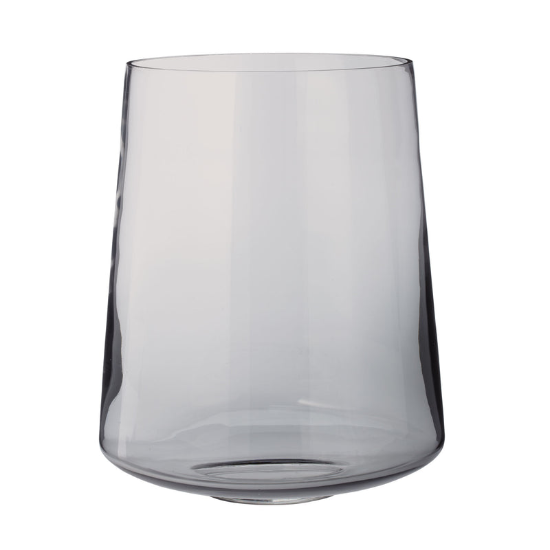 Smoky Well Vase - lg - Gray