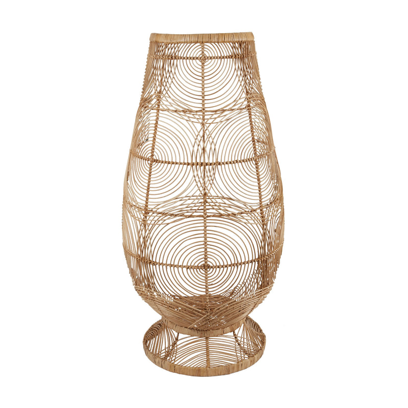 Air Fan Pedistal Vase - Natural
