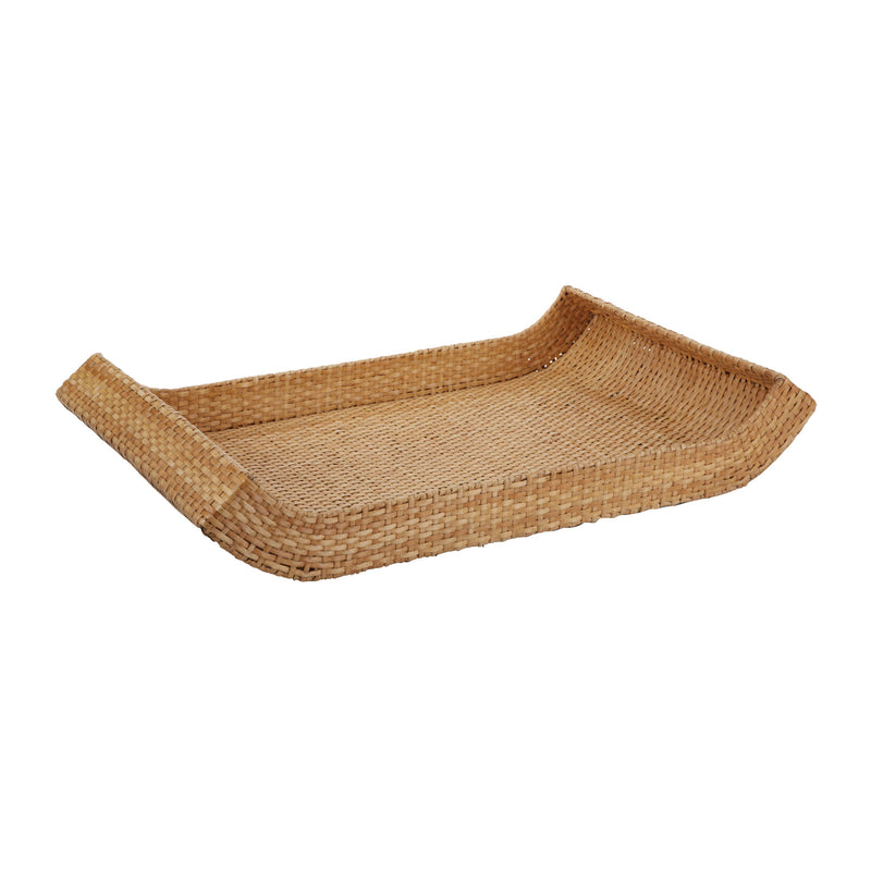 Natural Woven Sleigh Tray - Large - Natural