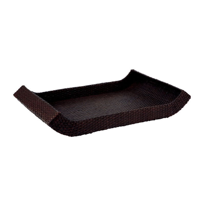 Black Woven Sleigh Tray - Large - Natural