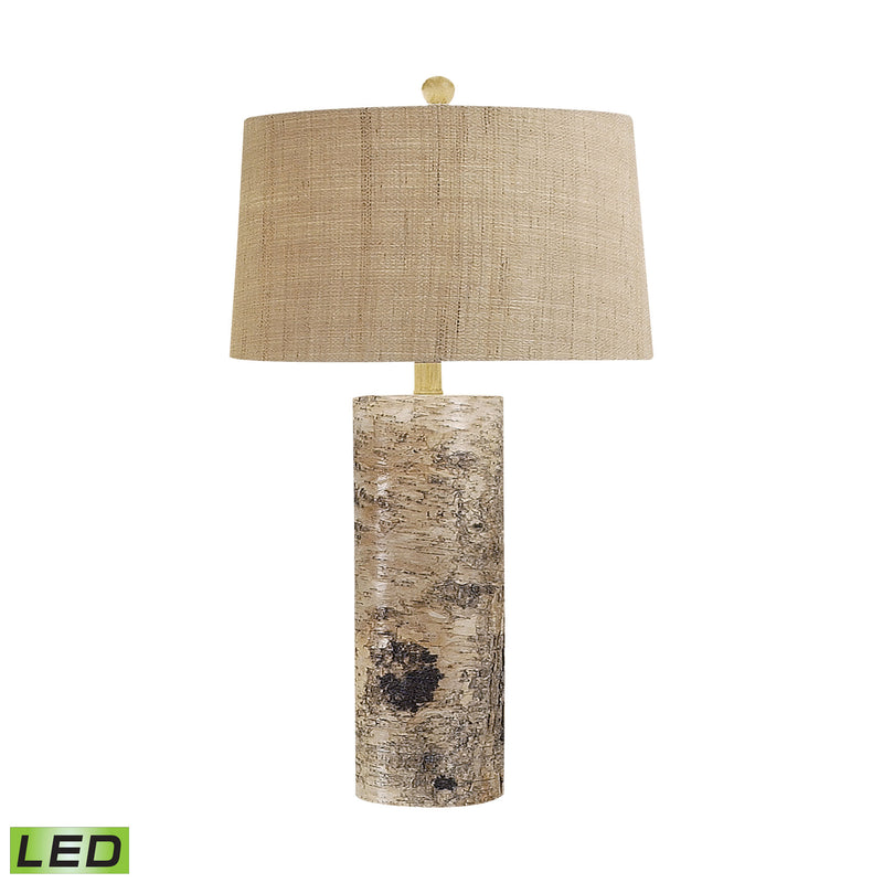 Aspen Bark LED Table Lamp - Natural