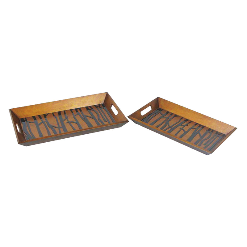 SET/2 BRANCH TRAYS - PAINTED