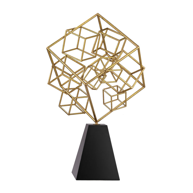 Cubic Abstract Sculpture - Black