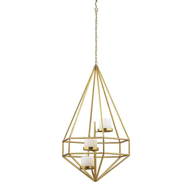 Angular Study Tea Light Pendant II - Gold