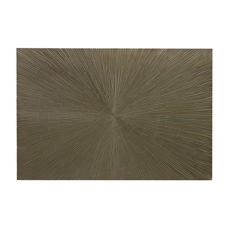 METAL AND RESIN CONTEMPORARY WALL DÉCOR - SILVER