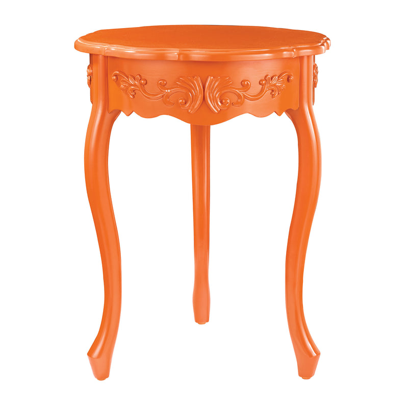 ACCENT TABLE IN ORANGE - TANGERINE ORANGE