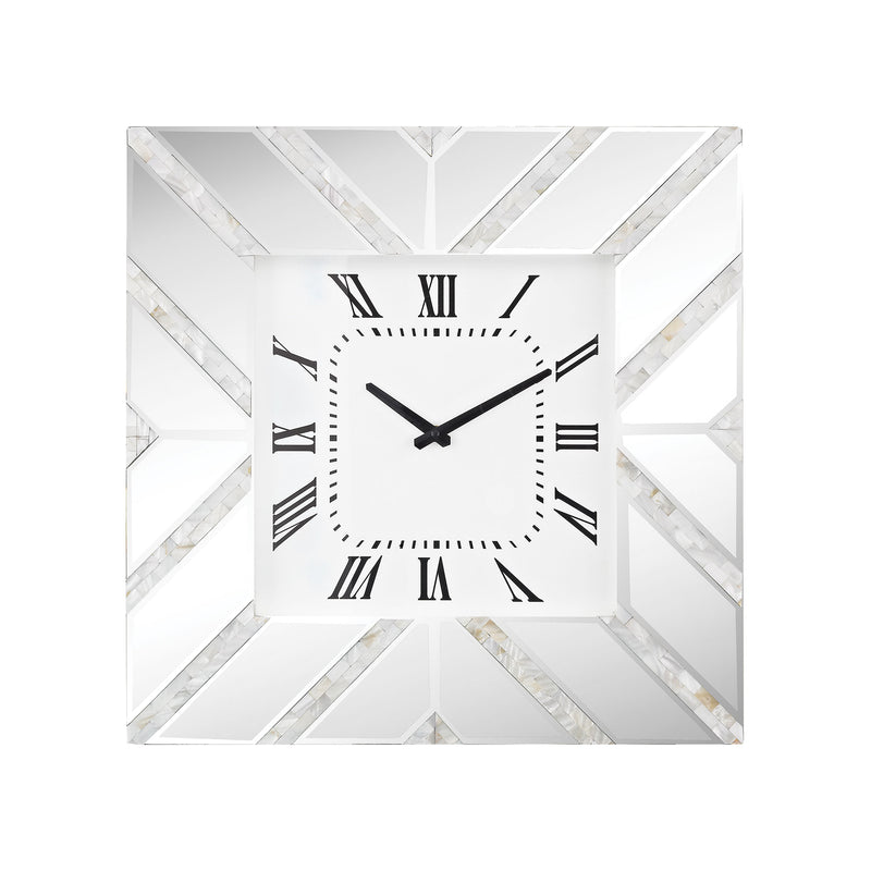 La Jolla Wall Clock - Clear Glass