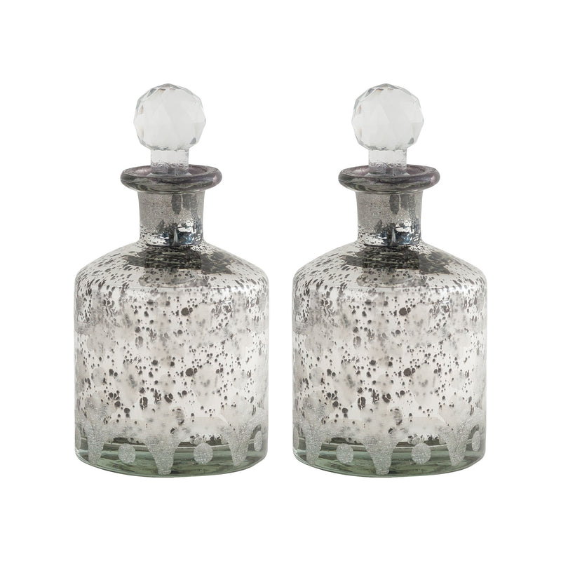 Phebe Set of 2 Bottles - Antique Silver