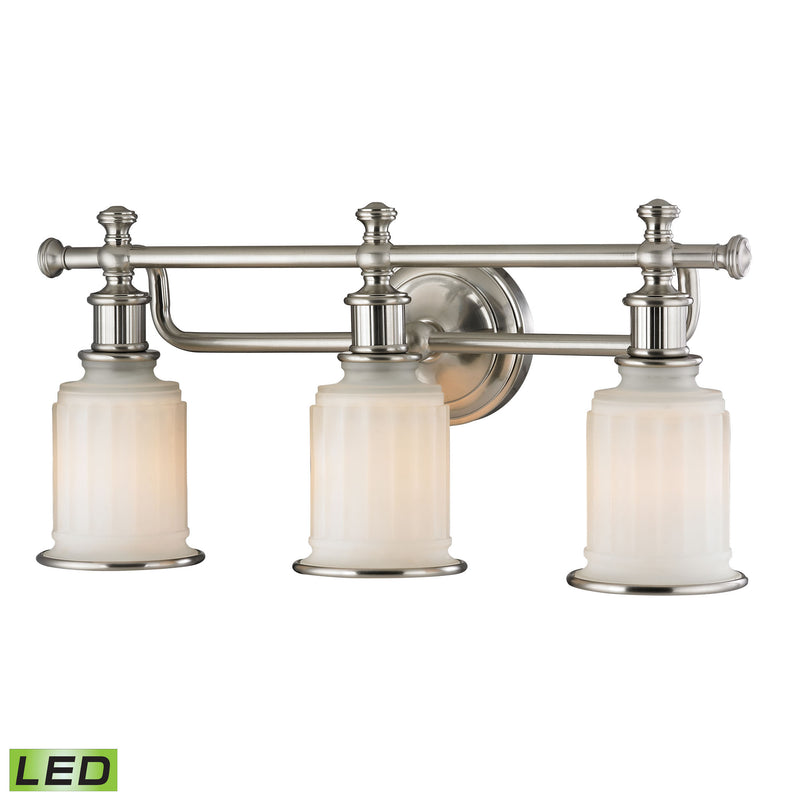 Acadia 3 Light LED Vanity In Brushed Nickel - Brushed Nickel
