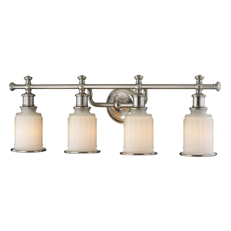 Acadia 4 Light Vanity In Brushed Nickel - Brushed Nickel