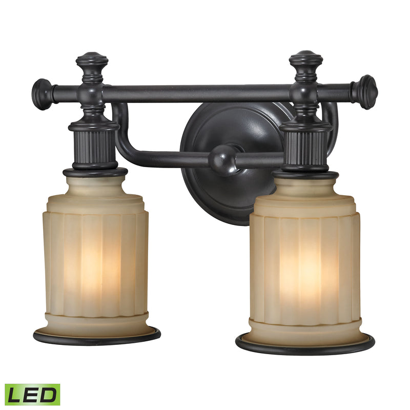 Acadia 2 Light LED Vanity In Oil Rubbed Bronze - Oil Rubbed Bronze