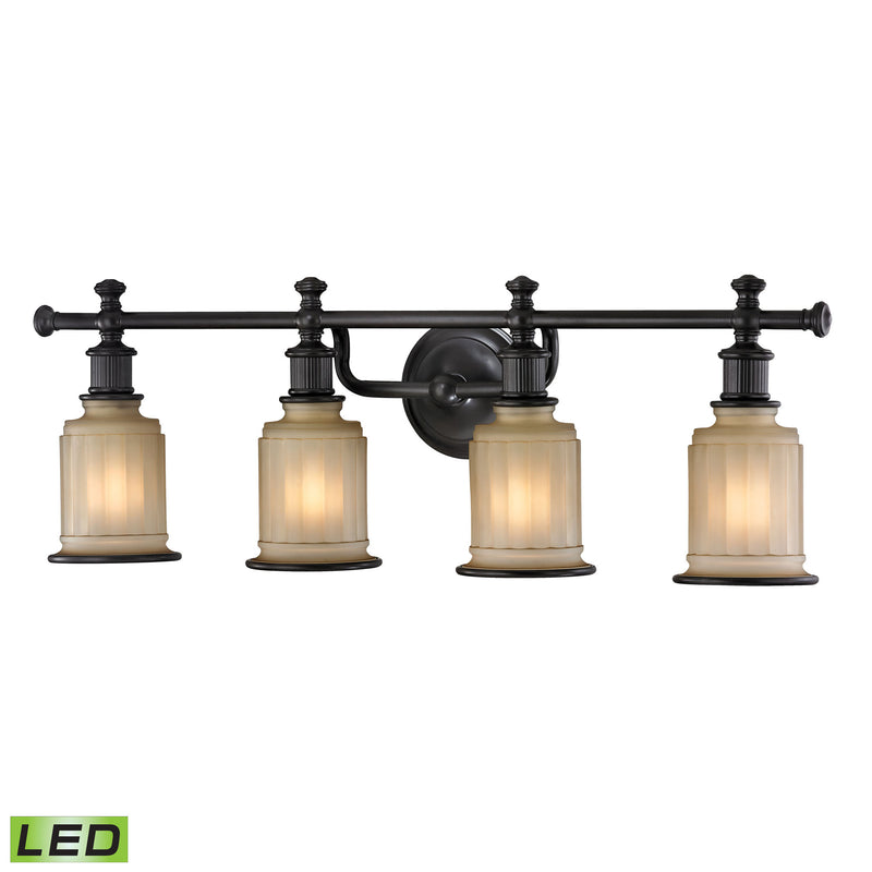 Acadia 4 Light LED Vanity In Oil Rubbed Bronze - Oil Rubbed Bronze