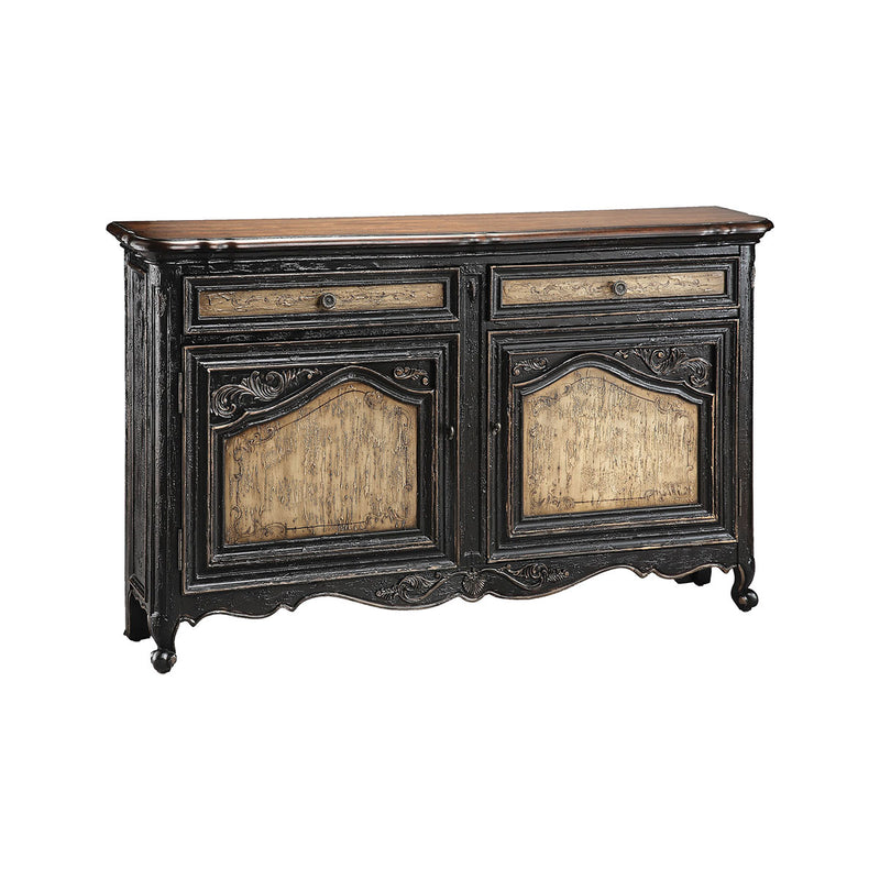 Avalon Sideboard in Hand-Painted,Black,Tan