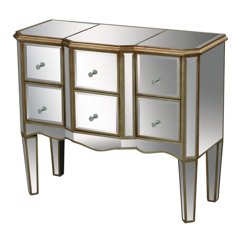 Antwerp Chest In Clear Mirror And Antique Gold - Antique Gold