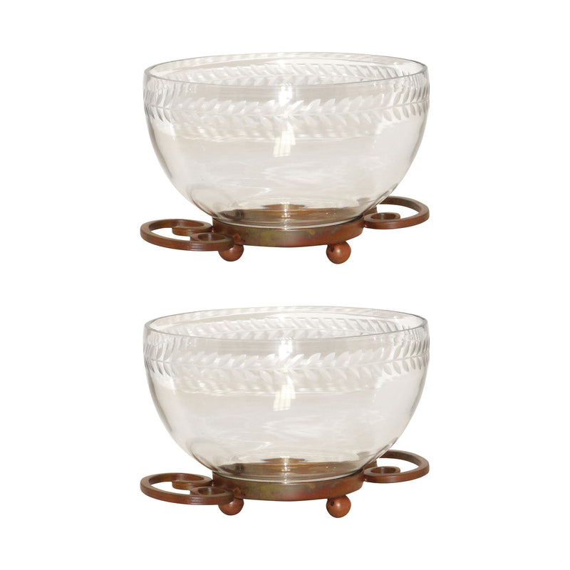 Burnham Set of 2 Bowls Small - Burned Copper
