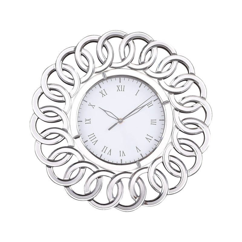 Chatelaine Clock with Mirror - Clear