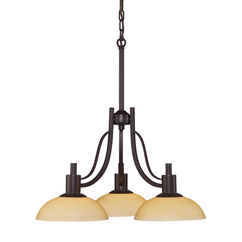 Vernon 3-Light Chandelier in Oiled Bronze - Oiled Bronze