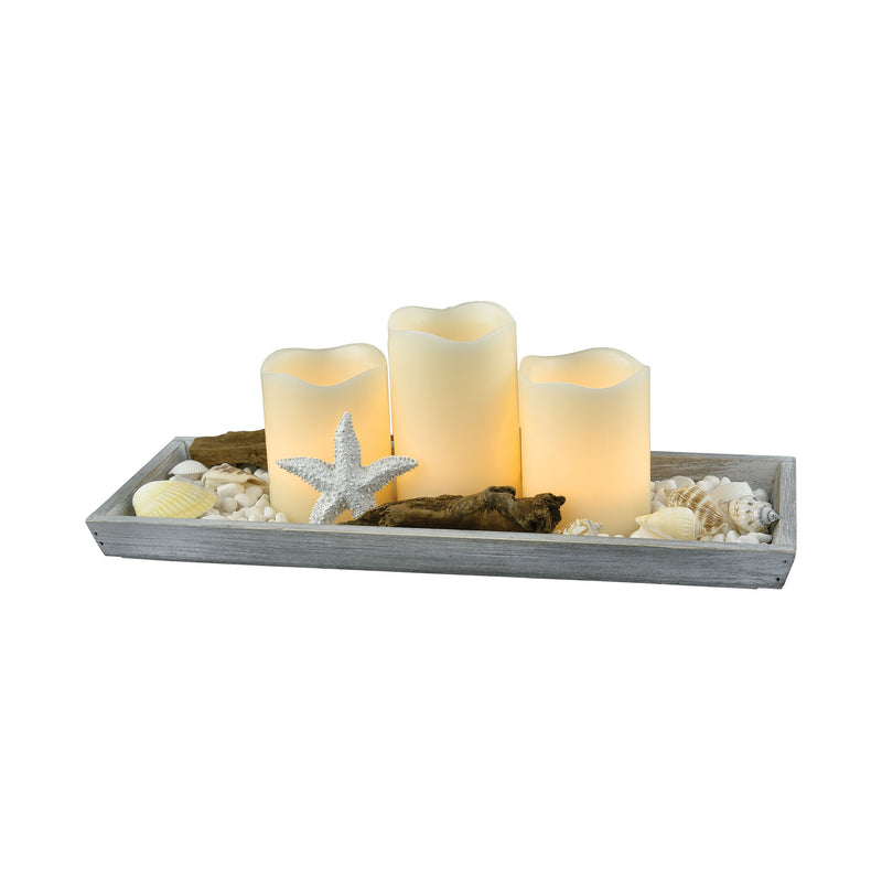 Beachside Candle Garden Open Stock-FW - Grey