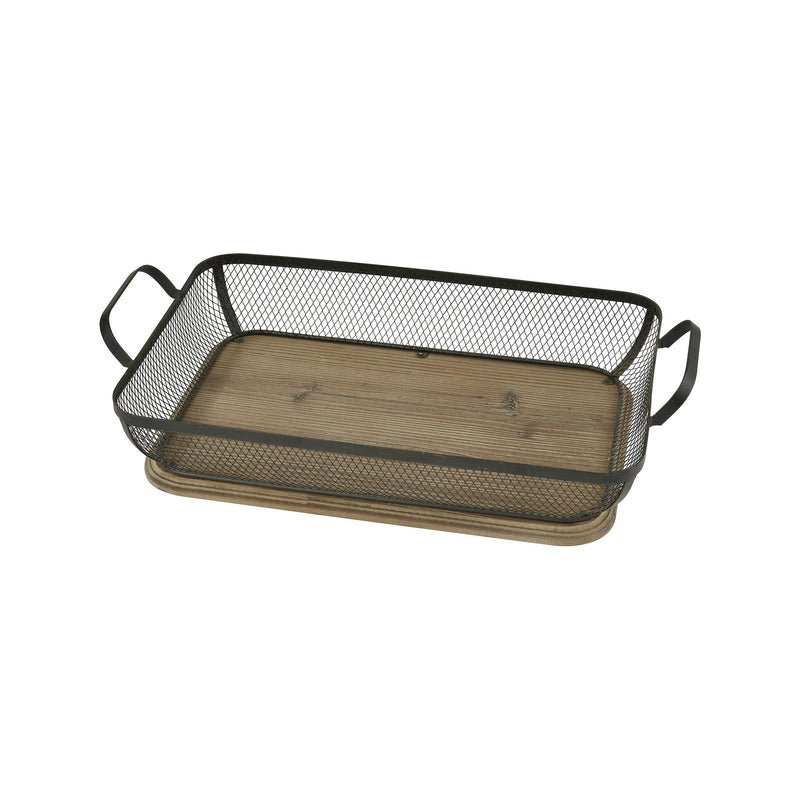 Bakerfield Deep Tray - brown, black