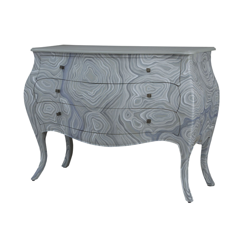 Bombay Chest In Grain De Bois Griege With Hand Painted Wood Grain Art - Grain de Bois Griege