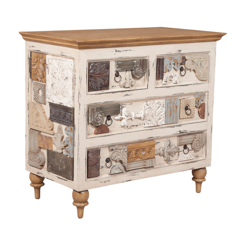 Artifacts Collage Chest - Legacy Pearl,Artisan Dark Stain