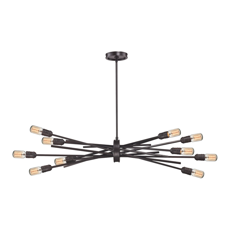 Xenia 10 Light Chandelier In Oil Rubbed Bronze - Oil Rubbed Bronze