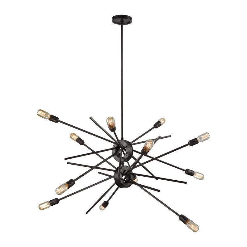 Xenia 12 Light Chandelier In Oil Rubbed Bronze - Oil Rubbed Bronze