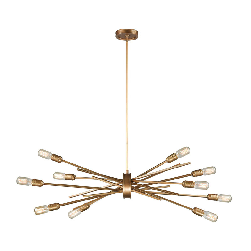 Xenia 10 Light Chandelier In Matte Gold - Matte Gold