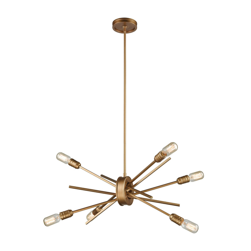 Xenia 6 Light Chandelier In Matte Gold - Matte Gold