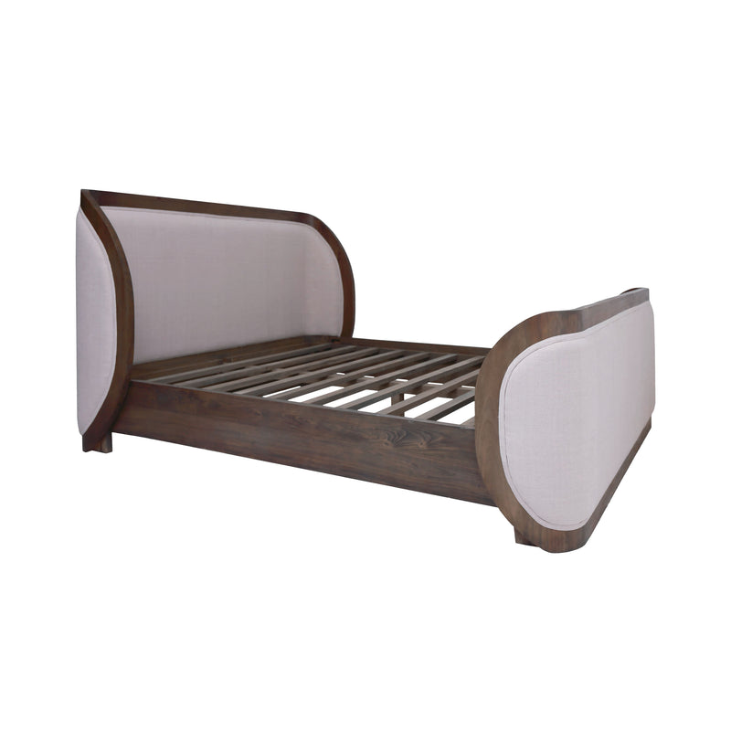 Alexander Queen Bed. CAPPUCCINO FOAM